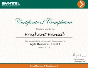 Agile Overview Level - 1