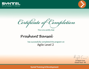 Agile Overview Level - 2
